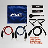 Maximum Fitness Gear MFGL3B Heavy Duty Latex Exercise Resistance Bands, Adjustable LT, MD and HV-60-Pounds, 3-Piece