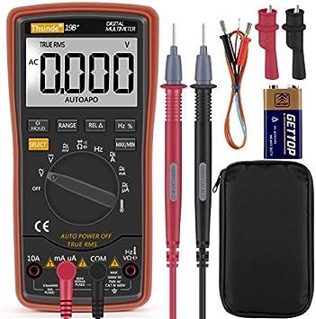 Auto Range Digital Multimeter 6000counts Strommessgerät Voltmeter Ohmmeter Amperemeter Temperatur Außenleiter Identifizierung True Rms Durchgangsprüfung Für Professionelle Anwender Baumarkt