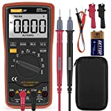Digital Multimeter,Thsinde Auto digital multimeter Measures Voltage Current Resistance Continuity Capacitance Frequency tests Diodes Transistors Temperature