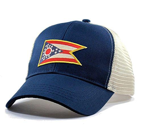 Homeland Tees Men's Ohio Flag Patch Trucker Hat - Blue