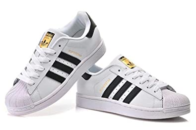 6492b9903 Adidas SuperStar White & Black Fashion Sneakers For Unisex