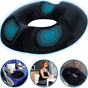 TheComfortZone Orthopedic Memory Foam Donut Cushion Provides Excellent Support and Relief of Back and Coccyx Pain… 1