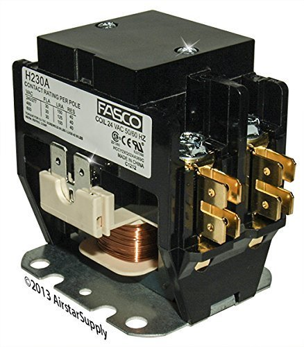 OEM Replacement for Trane Double Pole / 2 Pole 30 Amp 24v Condenser Contactor Relay C147094P03 (Relay Contactor)