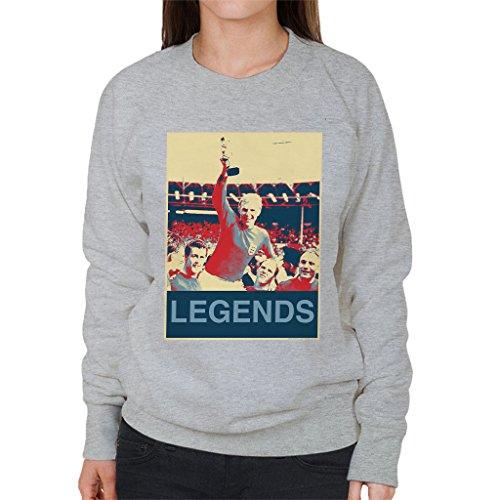 - POD66 1966 World Cup Final England Bobby Moore Jules Rimet Trophy Women's Sweatshirt