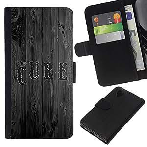 Estuche Cubierta Shell Smartphone estuche protector duro para el teléfono móvil Caso LG Google Nexus 5 D820 D821 / CECELL Phone case / / The Cure Wood /
