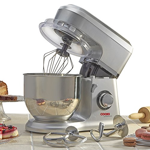 Electric Food Stand Mixer 5L Mixing Bowl, 3-in-1 Dough Hook, Whisk & Beater...