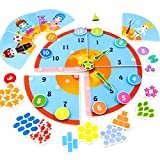 Picnmix Smart Clock Educational Learning Toy and Game Sticker Puzzle for 4 year olds to 7 year olds