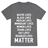 LookHUMAN Minority Lives Matter Heathered Gray Large Mens/Unisex V-Neck Triblend Tee by