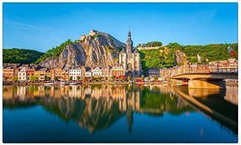 Bélgica Costa Agua Casas Crag Dinant ciudades sitios de viajes postal Post tarjeta: Amazon.es: Oficina y papelería
