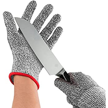 Nuovoware Cut Resistant Gloves, High Performance Food Grade Level 5 Protection Gloves for Home & Kitchen Work Safety, Hands Protector, EN388 Certified, 1 Pair(Medium Size)