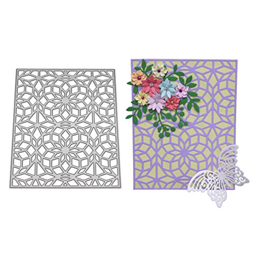 Lotus.flower New 9 Types Cutting Dies Stencil DIY Decoration Embossing Template for Album Paper Card Making (A)
