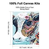 XPCARE Paint by Number Kits Canvas DIY Oil Painting 16 x 20 inch Animal Pattern for Kids & Adults