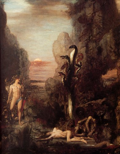Llavero de acrílico Moreau Hércules y la Hidra 1876: Amazon ...