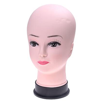 Modelo de cabeza - TOOGOO(R)cabeza de maniqui de calva de cosmetologia