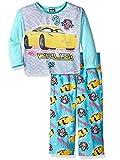 Disney Girls' Toddler Cars 2-Piece Pajama Set, Light Blue, 2T