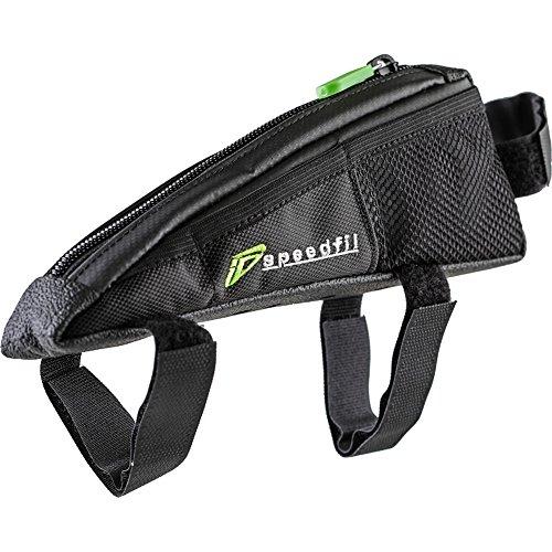 SP2 Bicycle Frame Storage Bag, Bolt on or Strap to Top Tube, Side Mesh Pockets
