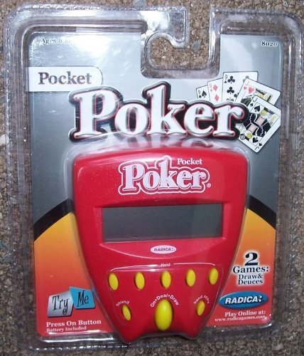 (Pocket Poker 2 in 1 Handheld Game (2002) by Radica)