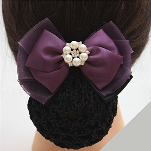 Black waiter etiquette fresh style headdress flower head flower net bag beautician nurses hotel property Korea hair for women girl lady