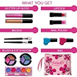 Playkidz: My First Princess Cosmetic and Real Makeup Set (Washable) with Designer Floral Cosmetic Bag