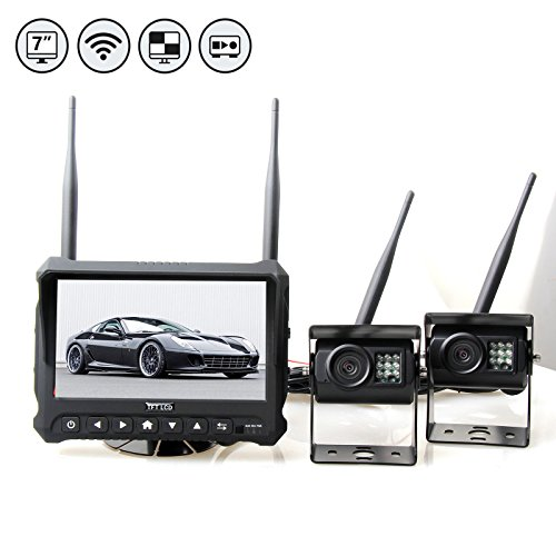 RedWolf Wireless Backup Camera System Built-In DVR, 7