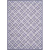 Safavieh Courtyard Collection CY7016-321 Lilac and Dark Lilac Indoor/ Outdoor Area Rug (6'7'' x 9'6'')