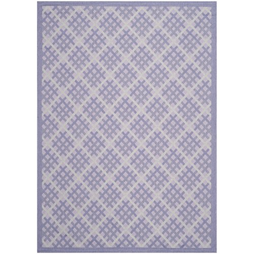 Safavieh Courtyard Collection CY7016-321 Lilac and Dark Lilac Indoor/ Outdoor Area Rug (6'7'' x 9'6'') by Safavieh