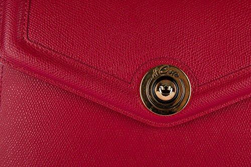 main d femme monaco cuir à Este sac rouge scuro en wwTHR