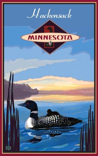 Northwest Art Mall Hackensack Minnesota Loon Artwork by Joanne Kollman, 11-Inch by - Hackensack Mall