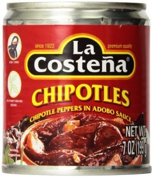 La Costena Chipotle Peppers in Adobo Sauce - 7 Oz ( 4 - Pack ) (Chipotle Peppers In Adobo Sauce La Costena)
