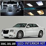 Chrysler 300 2005-2010 Xenon White Premium LED Interior Lights Package Kit (6 Pieces)