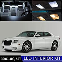 LEDpartsNOW Chrysler 300 2005-2010 Xenon White Premium LED Interior Lights Package Kit (12 Pieces) + Install Tool