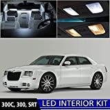 LEDpartsNow Chrysler 300 2005-2010 Xenon White Premium LED Interior Lights Package Kit (12 Pieces) + Install Tool