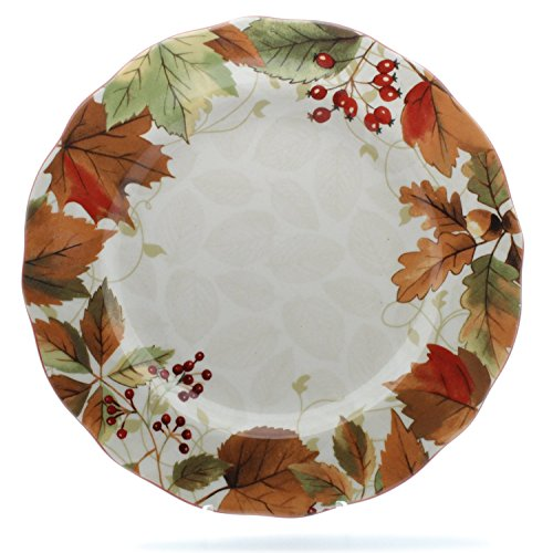 222 Fifth Fall Festivities Harvest Festival Fine China Dinner Plates, Circle - 1 Replacement Plate