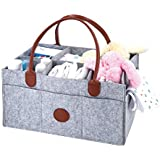 Diaper Caddy/More Compartments/Leather Handles/Extra...