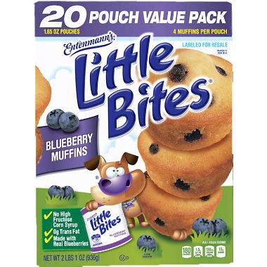 - Entenmann's Little Bites Blueberry 33 oz, 20 ct. A1