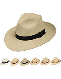 a24460816e070 Fedora Packable Foldable Panama Straw Hat Classic
