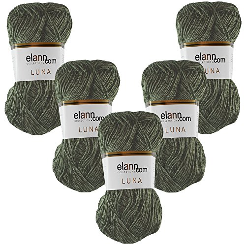 (elann Luna Yarn | 5 Ball Bag | 5039 Cypress Shimmer )