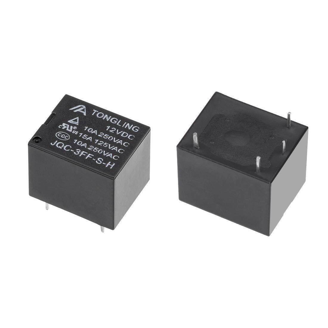 uxcell 5 Pcs JQC-T78-DC24V-C DC 24V Coil SPDT 5 Pin PCB Electromagnetic Power Relay
