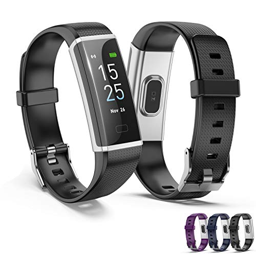Fitness Tracker HR,LANIAKEA Activity Tracker Watch with Heart Rate Monitor,Color Screen Smart Watch with Sleep Monitor,Step Counter, Calorie Counter,IP67 Waterproof Pedometer Watch for Kids Women Men