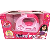 NEW LITTLE GIRLS MUSIC IRON TOY PRETEND PLAY HOME DOLLS KIDS LIGHT & SOUND XMAS
