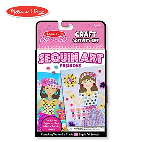 Melissa & Doug On-The-Go Crafts Fashion Sequin Art