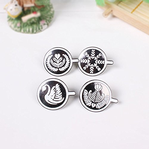 Jaese jewelry small street idle peripherals series coffee cappuccino coffee cup face brooch