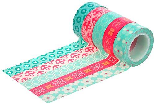 HIART Repositionable Washi Tape, Bubble Gum Collection, Set of 5