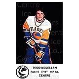 Todd Mclellan Hockey Card 1983-84 Saskatoon Blades #14 Todd Mclellan