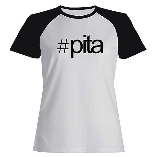 Idakoos Hashtag Pita – Città del Mondo – Maglietta Raglan Donna