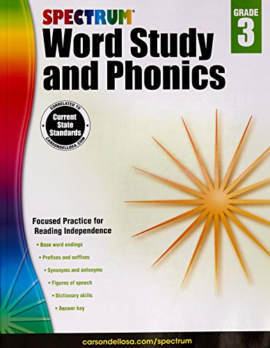 Spectrum Word Study and Phonics, Grade (Word Study Lessons)