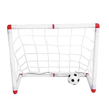 Tbest Soccer Goal, Entrenamiento bajo Techo Mini fútbol Plegable ...