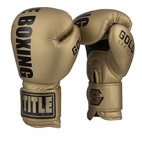 Title Boxing Gold Series Select Training Gloves, Gold, 18 oz