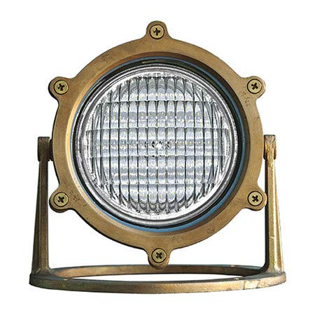 Underwater Light, Brass, LED, Pond