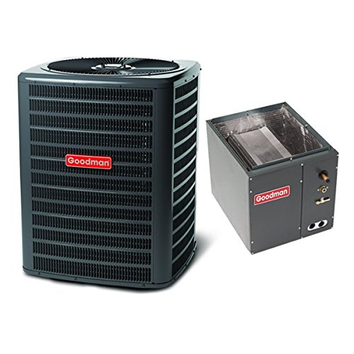 Goodman 5 Ton 14 Seer Air Conditioning System with Upflow/Downflow Evaporator Coil